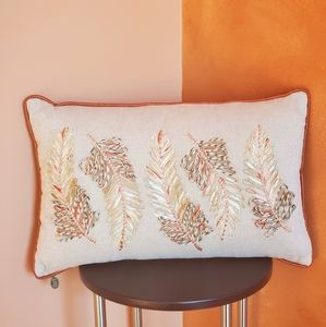 Pier 1 Imports Autumn Leaves Fall Accent Pillow